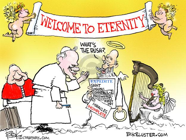 Cartoonist Chip Bok  Chip Bok's Editorial Cartoons 2014-04-29 eternity