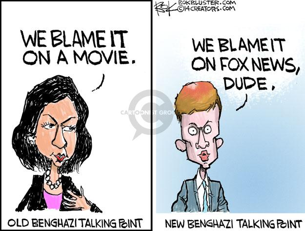 Cartoonist Chip Bok  Chip Bok's Editorial Cartoons 2014-05-02 Benghazi