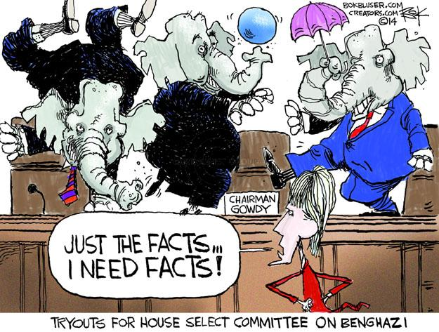 Cartoonist Chip Bok  Chip Bok's Editorial Cartoons 2014-05-09 Benghazi