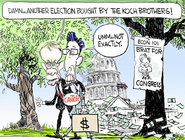 Cartoonist Chip Bok  Chip Bok's Editorial Cartoons 2014-06-12 2014 election