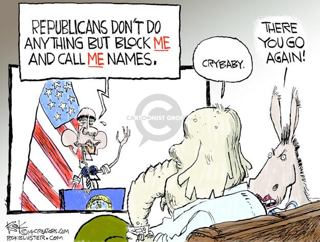 Cartoonist Chip Bok  Chip Bok's Editorial Cartoons 2014-06-30 Obama republicans