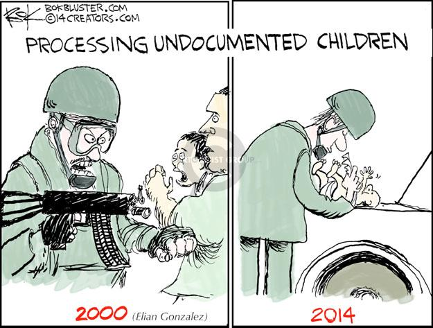 Cartoonist Chip Bok  Chip Bok's Editorial Cartoons 2014-07-03 migrant