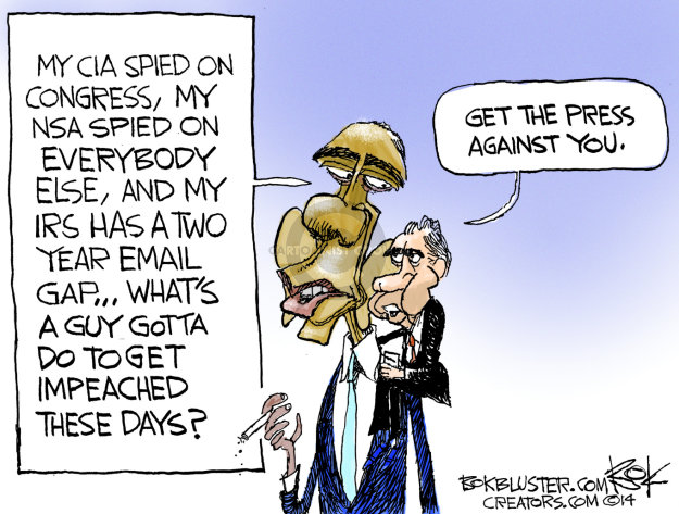 Chip Bok  Chip Bok's Editorial Cartoons 2014-08-06 president