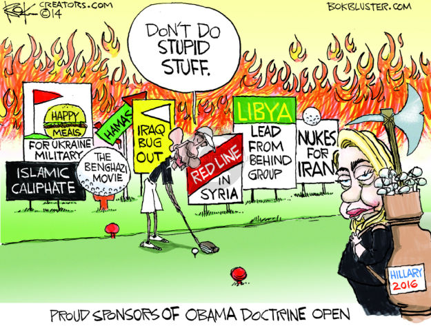 Cartoonist Chip Bok  Chip Bok's Editorial Cartoons 2014-08-12 Benghazi