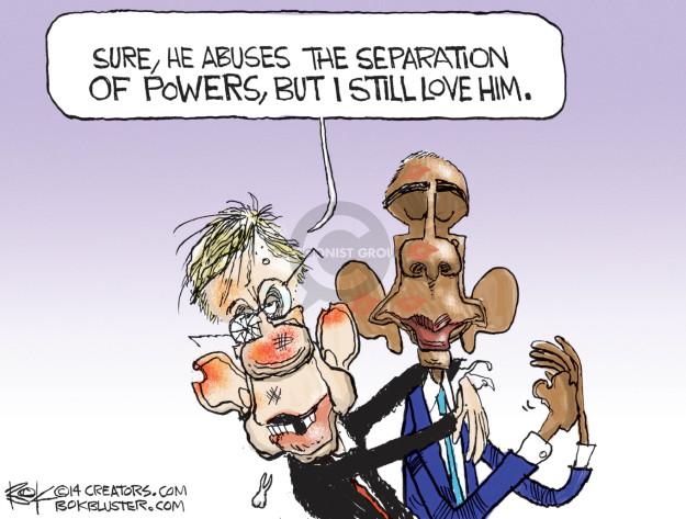 Chip Bok  Chip Bok's Editorial Cartoons 2014-09-13 executive branch