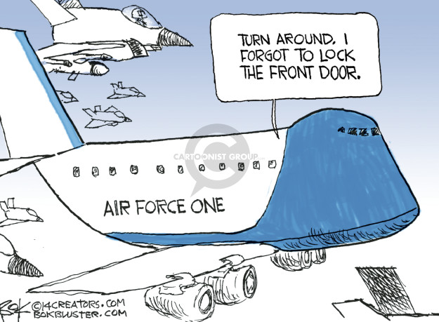 Chip Bok  Chip Bok's Editorial Cartoons 2014-09-24 Air Force One