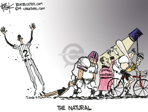 Cartoonist Chip Bok  Chip Bok's Editorial Cartoons 2014-09-27 professional athlete