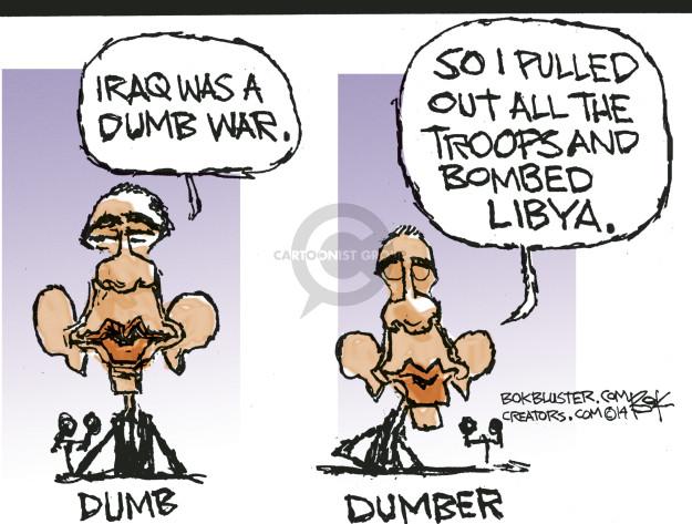 Cartoonist Chip Bok  Chip Bok's Editorial Cartoons 2014-10-10 Iraq