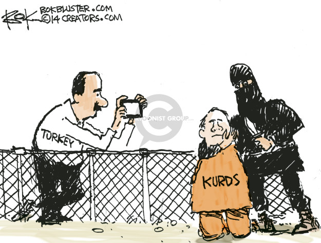 Chip Bok  Chip Bok's Editorial Cartoons 2014-10-12 Syria conflict