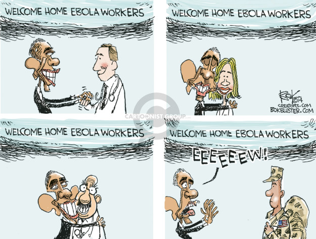 Cartoonist Chip Bok  Chip Bok's Editorial Cartoons 2014-10-30 infectious disease