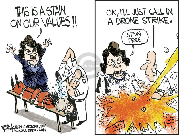 This is a stain on our values!! Ok, Ill just call in a drone strike. Stain free. CIA.