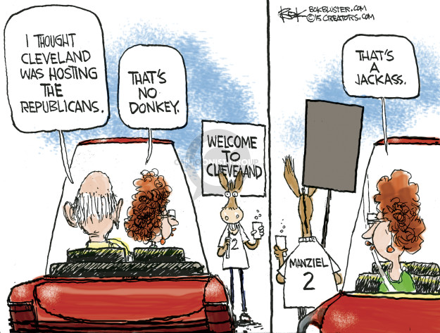 Cartoonist Chip Bok  Chip Bok's Editorial Cartoons 2015-01-08 political convention