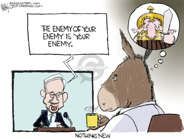 Cartoonist Chip Bok  Chip Bok's Editorial Cartoons 2015-03-04 Benjamin Netanyahu