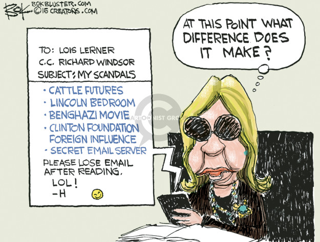 Cartoonist Chip Bok  Chip Bok's Editorial Cartoons 2015-03-07 Benghazi