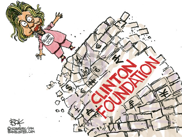 Cartoonist Chip Bok  Chip Bok's Editorial Cartoons 2015-03-24 Clinton Foundation