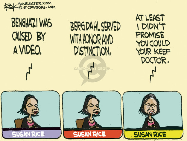 Cartoonist Chip Bok  Chip Bok's Editorial Cartoons 2015-03-30 Benghazi