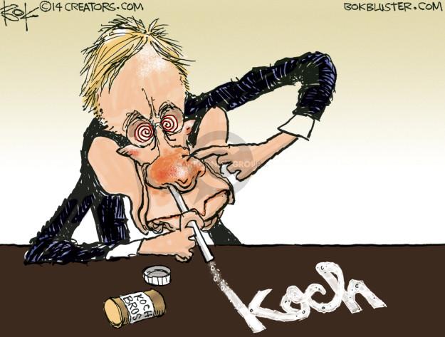 Chip Bok  Chip Bok's Editorial Cartoons 2015-04-02 Koch brothers