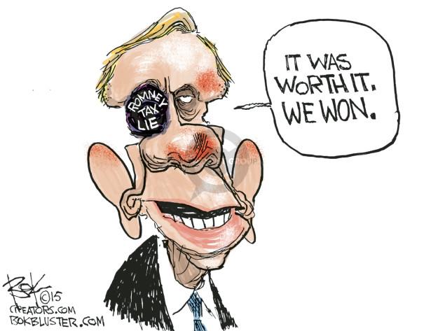 Cartoonist Chip Bok  Chip Bok's Editorial Cartoons 2015-04-17 Mitt Romney