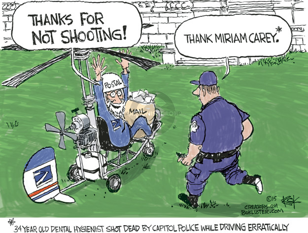 Cartoonist Chip Bok  Chip Bok's Editorial Cartoons 2015-04-19 police shooting