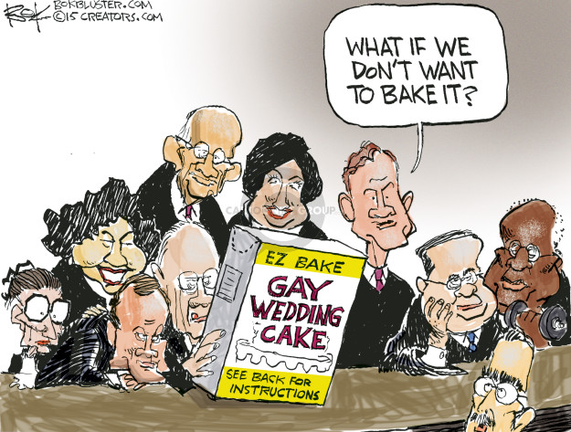 Cartoonist Chip Bok  Chip Bok's Editorial Cartoons 2015-05-04 same-sex marriage