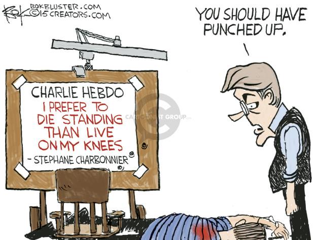 Cartoonist Chip Bok  Chip Bok's Editorial Cartoons 2015-05-08 Charlie Hebdo attack