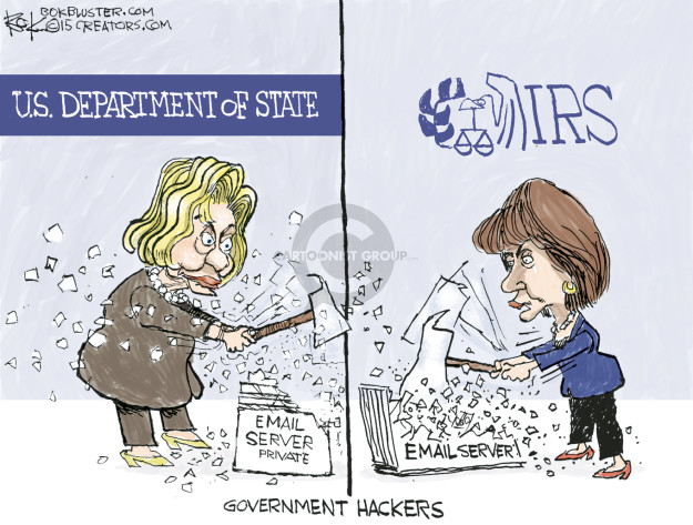 U.S. Department of State. Email server private. IRS. Email server. Government Hackers.