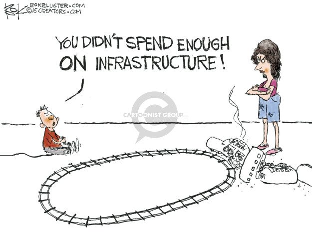 Chip Bok  Chip Bok's Editorial Cartoons 2015-05-14 infrastructure