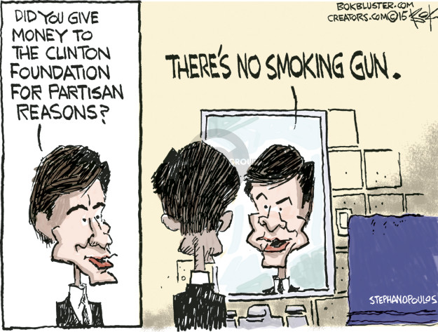 Did you give money to the Clinton Foundation for partisan reasons? Theres no smoking gun.