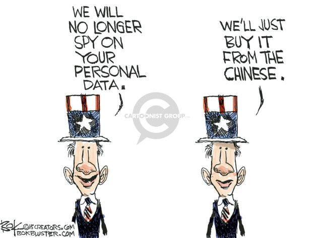 We will no longer spy on your personal data. Well just buy it from the Chinese.