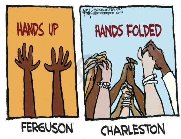 Cartoonist Chip Bok  Chip Bok's Editorial Cartoons 2015-06-24 Ferguson, Missouri