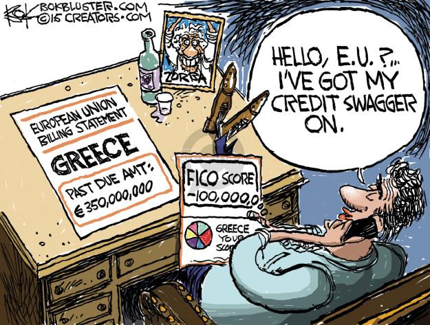 Cartoonist Chip Bok  Chip Bok's Editorial Cartoons 2015-06-26 crisis