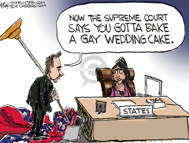 Cartoonist Chip Bok  Chip Bok's Editorial Cartoons 2015-06-29 same-sex marriage