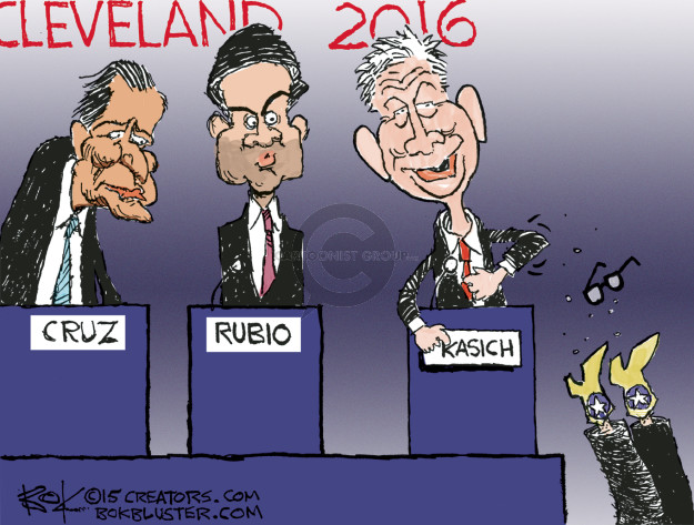 Cartoonist Chip Bok  Chip Bok's Editorial Cartoons 2015-08-05 2016 Republican Debate