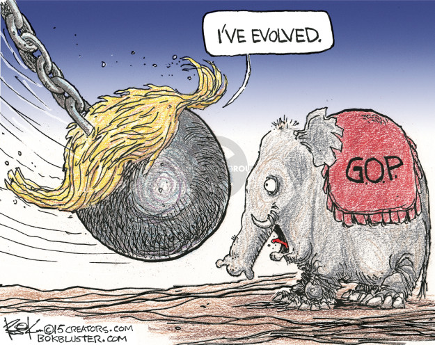 Cartoonist Chip Bok  Chip Bok's Editorial Cartoons 2015-08-07 republican party