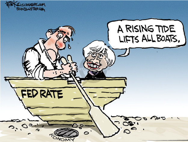Chip Bok  Chip Bok's Editorial Cartoons 2015-08-24 interest rate