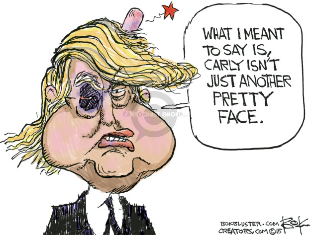 Cartoonist Chip Bok  Chip Bok's Editorial Cartoons 2015-09-17 2016 Republican Debate