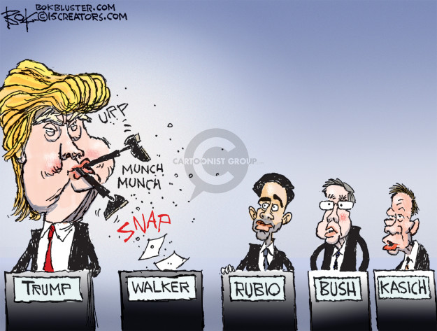Chip Bok  Chip Bok's Editorial Cartoons 2015-09-23 Scott Walker