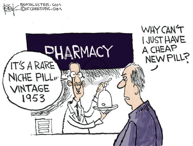 Cartoonist Chip Bok  Chip Bok's Editorial Cartoons 2015-10-07 prescription