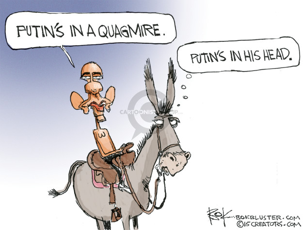 Cartoonist Chip Bok  Chip Bok's Editorial Cartoons 2015-10-09 Barack Obama Vladimir Putin