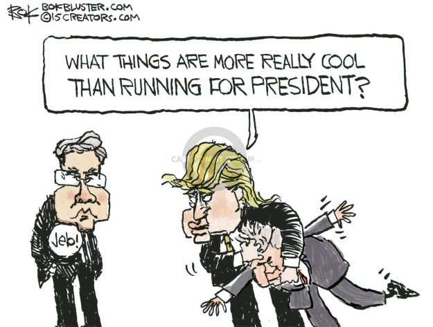 Cartoonist Chip Bok  Chip Bok's Editorial Cartoons 2015-10-31 bush