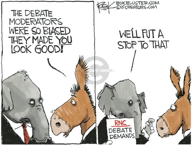 Cartoonist Chip Bok  Chip Bok's Editorial Cartoons 2015-11-03 debate