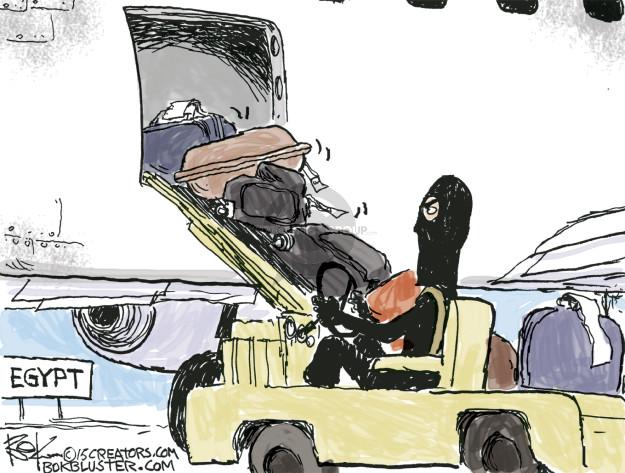 Cartoonist Chip Bok  Chip Bok's Editorial Cartoons 2015-11-07 airplane safety