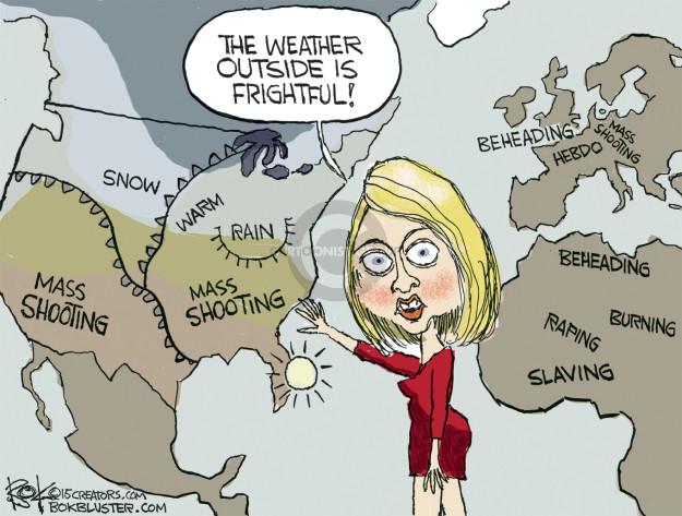 Cartoonist Chip Bok  Chip Bok's Editorial Cartoons 2015-12-03 weather