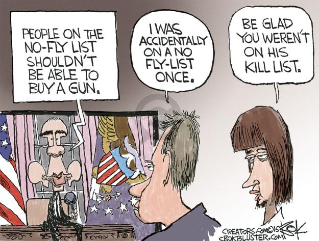 Cartoonist Chip Bok  Chip Bok's Editorial Cartoons 2015-12-10 gun rights