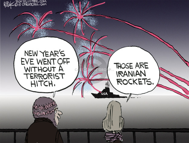Cartoonist Chip Bok  Chip Bok's Editorial Cartoons 2015-12-31 missile