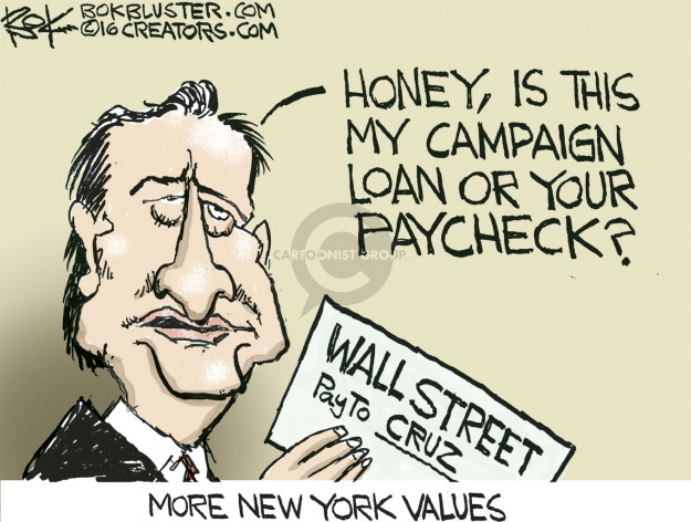 Chip Bok  Chip Bok's Editorial Cartoons 2016-01-27 Wall Street