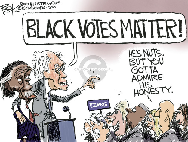 Chip Bok  Chip Bok's Editorial Cartoons 2016-02-13 Bernie Sanders