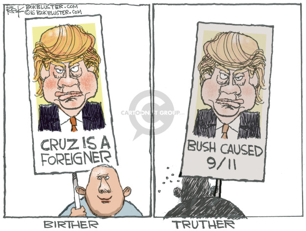 Cartoonist Chip Bok  Chip Bok's Editorial Cartoons 2016-02-18 bush