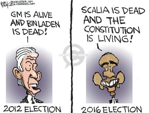Cartoonist Chip Bok  Chip Bok's Editorial Cartoons 2016-02-24 2012 election