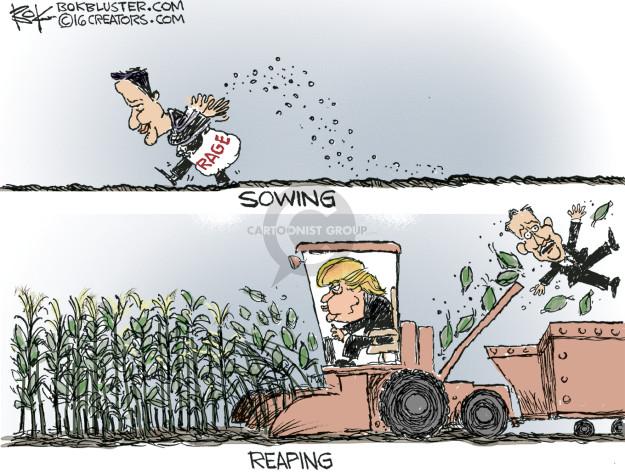 Cartoonist Chip Bok  Chip Bok's Editorial Cartoons 2016-02-26 harvest